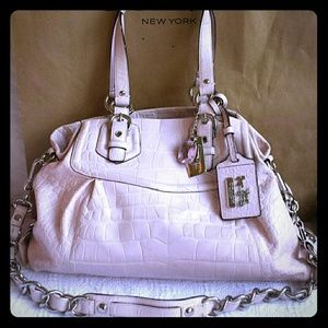 Coach 14601 Madison Exotic Embossed Carryall Pink
